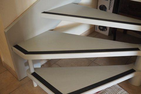 Mise en sécurité escalier bois verni